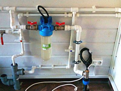 ввод водопровода в дом
